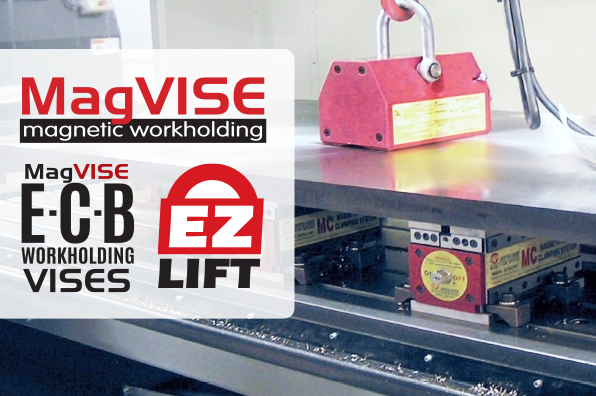 Techniks brand banner of logos for magnetic workholding products