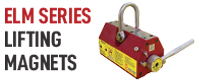 Brand banner for ELM series magnetic lifters